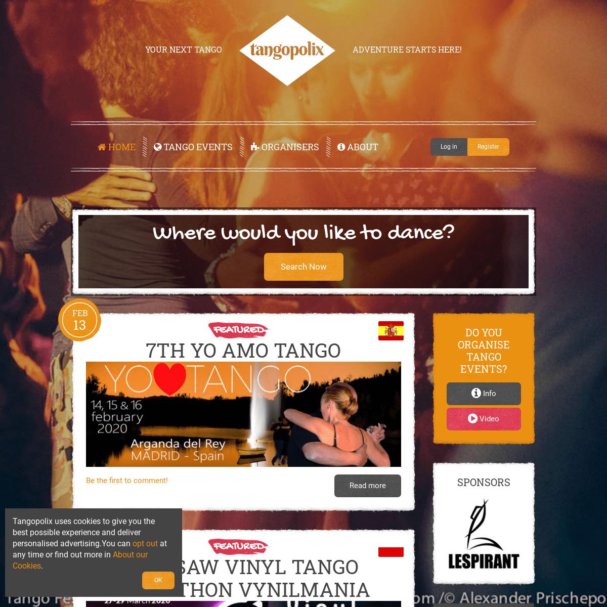 Tango Festivals - Marathons - Encuentros - Workshops