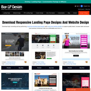 Download responsive landing page designs and website design