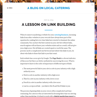 A Blog on Local Catering
