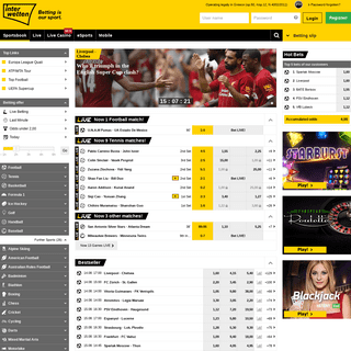 Sport bets & top odds at Interwetten - Bet online now!