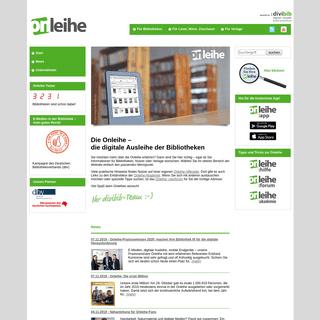 Die Onleihe – Die digitale Ausleihe der öffentlichen Bibliotheken – eBooks, ePaper, eAudios und eLearningkostenlos und lega