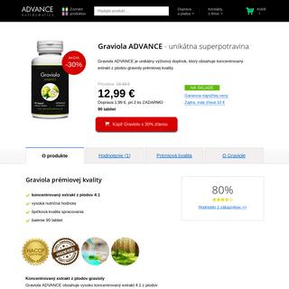 Graviola ADVANCE– unikátna superpotravina