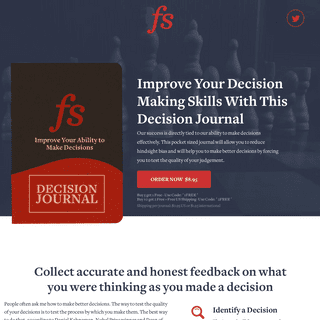Decision Journal- Learn How to Make Better Decisions