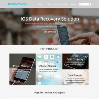 iPhoneData- iOS Data Recovery & Transfer & Management Expert