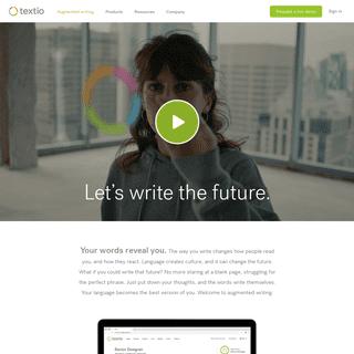 Textio - The augmented writing platform