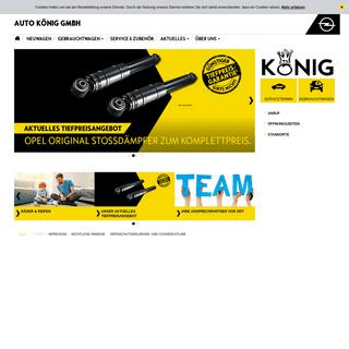 Opel - Auto König GmbH - Startseite