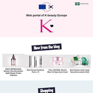 K-beauty Europe