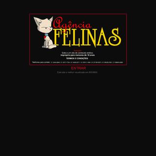 Site da Agencia Felinas As Acompanhantes mais lindas e gostosas do Rio de Janeiro