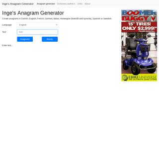 ArchiveBay.com - ingesanagram.appspot.com - Inge's Anagram Generator