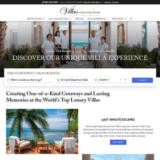 Luxury Villa Rentals by Villas of Distinction