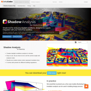 DeltaCodes - Shadow analysis is a fast and simple daylight conditions - shading analysis application.