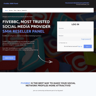 FiveBBC.com - Cheapest SMM Reseller Panel