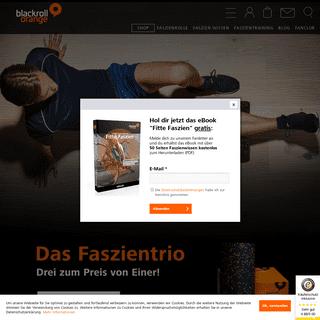 Faszienrolle, Massagerolle & Foamroller - Blackroll Orange