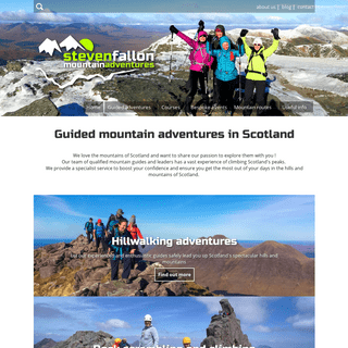 Steven Fallon - Scotland mountain guides, leaders and routes