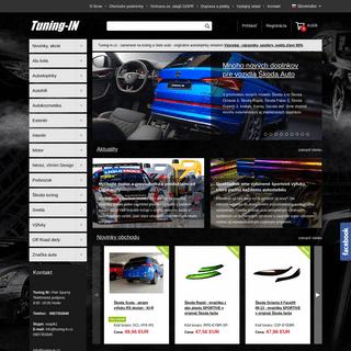 Tuning-in.sk - Originálne tuning shop a autodoplnky pre tuning auta