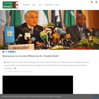 ArchiveBay.com - chakibkhelil.com - Chakib Khelil- Bienvenue