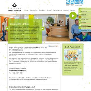 Geistige Behinderung - Wohnplatz - Stiftung Wagerenhof