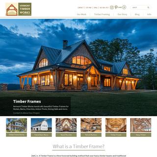 Timber Frames - Post and Beam Barns - Exposed Wood Beams
