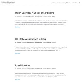 WebworksNHealthstuffs – Just another WordPress site