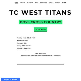 ArchiveBay.com - titanxc.weebly.com - TC West Titans - Home
