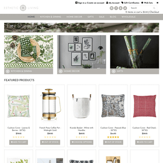 Luxury Home Decor - Online Kitchenware - High-End Home Decor - Esthetic Living