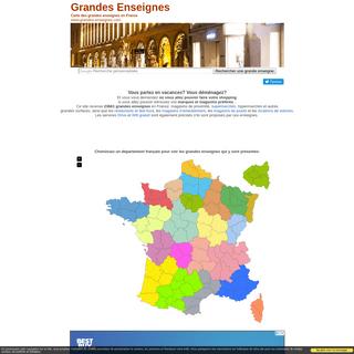 Liste et carte des grandes enseignes en France