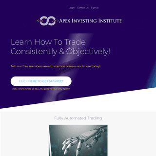 Learn How to Trade Consistently & Objectively on Futures and Forex Markets - Apex Investing Institute