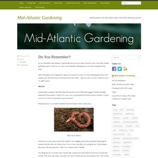 Mid-Atlantic Gardening