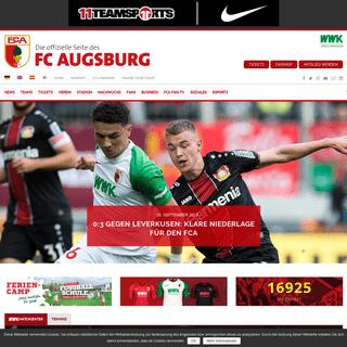 ArchiveBay.com - fcaugsburg.de - FC Augsburg - Die offizielle Website des FC Augsburg