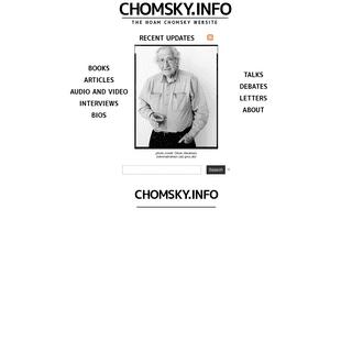chomsky.info - The Noam Chomsky Website