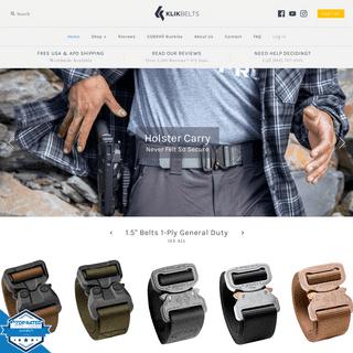 Mens Belts Online - Ladies Belts Online - Quality Belts - Klik Belts