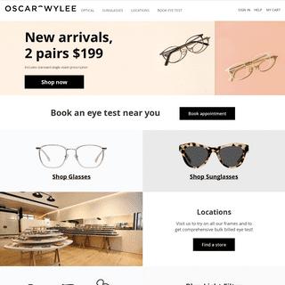 ArchiveBay.com - oscarwylee.com.au - Oscar Wylee- Online Eyeglasses & Sunglasses - Rx Glasses • Oscar Wylee