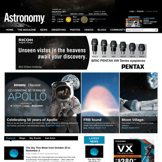 Astronomy Magazine - Interactive Star Charts, Planets, Meteors, Comets, Telescopes