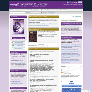 ArchiveBay.com - alzheimersanddementia.com - Home Page- Alzheimer's & Dementia- The Journal of the Alzheimer's Association