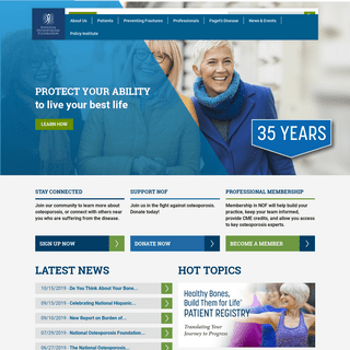 Home - National Osteoporosis Foundation