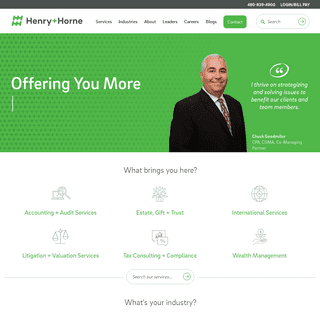Henry+Horne Specializes in Tax, Audit, Bookkeeping and CPA services in Arizona.