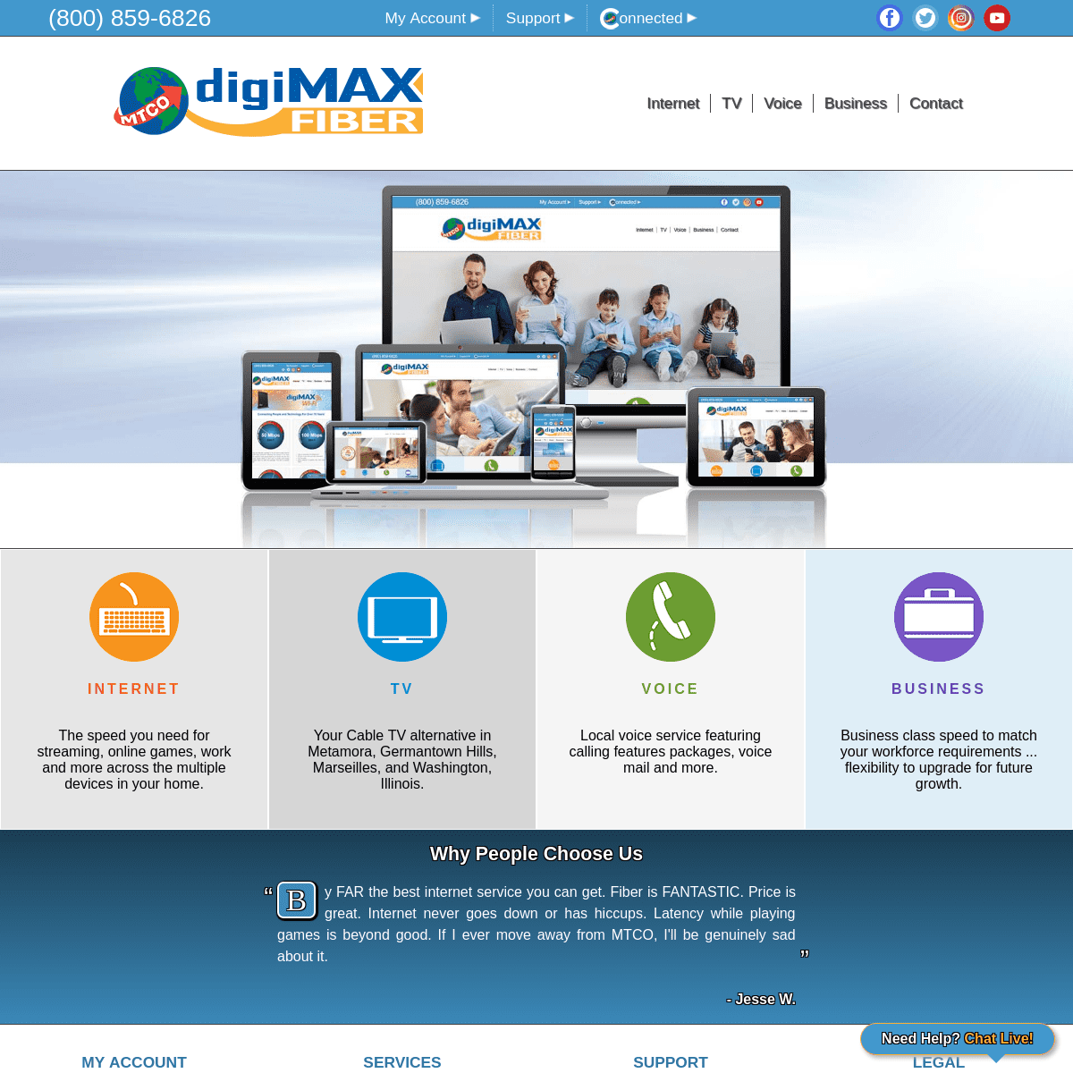 MTCO digiMAX Internet, TV, Voice