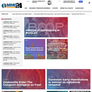 MMO24 - MMO24.pl - MMORPG, e-Sport, Poradniki, Artykuły