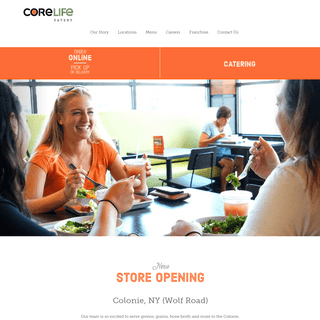 CoreLife Eatery is Focused on Healthy, Active Lifestyles - Not a Spectator