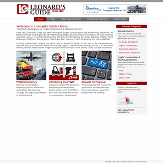 Leonard's Guide- Freight Companies - Trucking, Air Cargo, Logistics, Warehouse