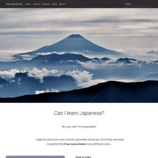 Home - How to Learn Japanese - NihongoShark.com