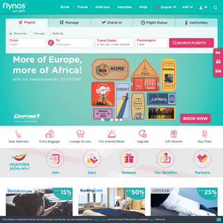 ArchiveBay.com - flynas.com - flynas - Modern low cost Saudi airline offering cheap flights