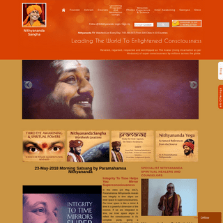 ArchiveBay.com - nithyananda.org - Nithyananda Sangha's Official Web Site - Health, Wealth, Relationships, Excellence, Enlightenment, Yoga, Meditation - Leading Th