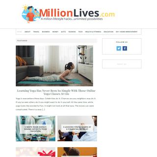 A Million Lives - A million lifestyle hacks...unlimited possibilities