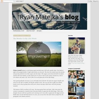 Ryan Matejka's Blog