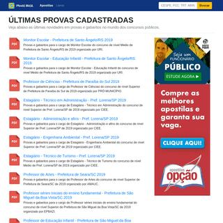 ArchiveBay.com - provasbrasil.com.br - Provas Brasil - Provas de Concursos Públicos para Download