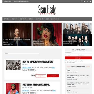 Home - Sean Healy Presents