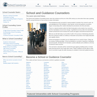 ArchiveBay.com - school-counselor.org - School Counselor - Guidance Counselor Career Information