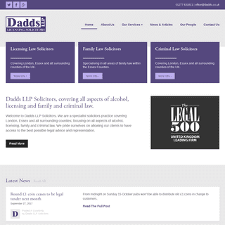 Dadds LLP Solicitors - Licensing Solicitors London - London, Essex