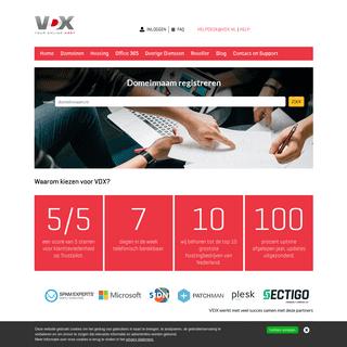 Domeinnamen en webhosting voor de zakelijke professional - VDX